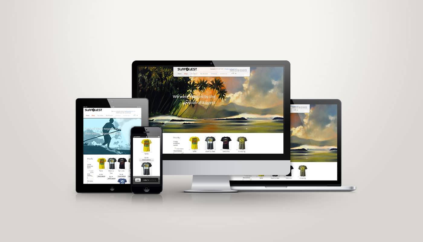 Surf Quest Int. - Web Design
