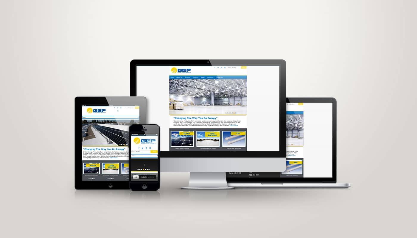 GEP Solar - Web Design