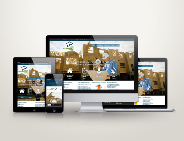 High Performance Home Program - Web Design