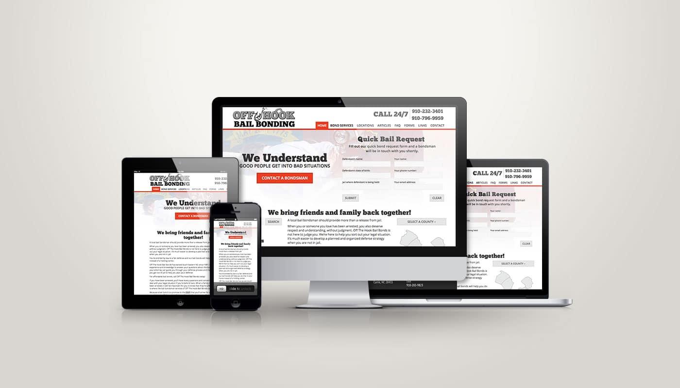 Off The Hook Bail Bonding - Web Design